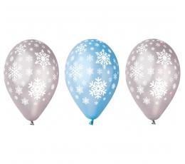"Baloni ""Sniegpārslas"", perlamutra (5 gab. / 30 cm)"