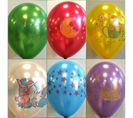 "Baloni ""Zīmējumi"" / krāsaini (10 gab./28cm)"