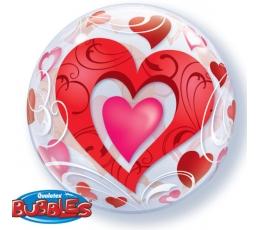 """Balons (bubble) """"Sarkanas sirdis"""" (56 cm)"""