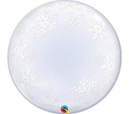 "Balons (bubble) ""Sniegpārslas"" (60 cm)"