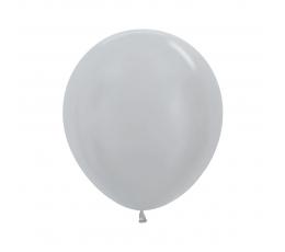 Balons, perlamutra sudraba (45 cm)