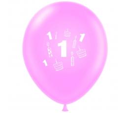 """Balons """"Pirmā dzimšanas diena"""", rozā (30 cm)"""