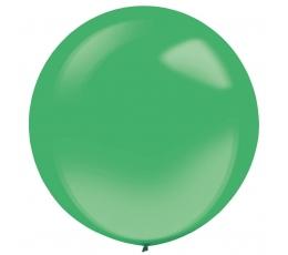 Balons, zaļš, caurspīdīgs apaļš (61 cm)