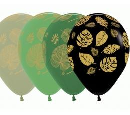 "Balons ""Zelta tropu lapas"" (30 cm)"