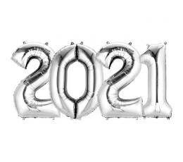"Balonu komplekts ""2021"" sudraba"