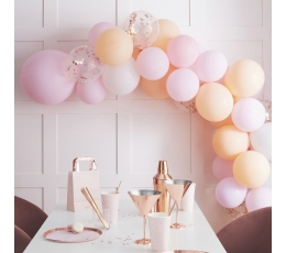 """Balonu vītne - arka """"Izveido pats"""", persiku-rozā"""