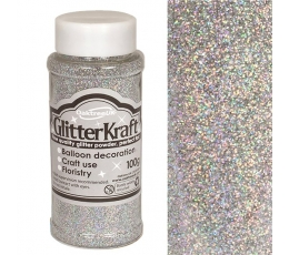 Beramini glitteri, sudraba (100 g)