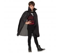 Bērnu vampīra apmetnis, melns (75 cm)