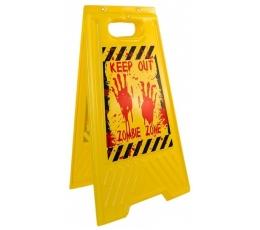 """Brīdinājuma zīme """"Izvairies - zombiju zona"""" (54 x 30 cm)"""