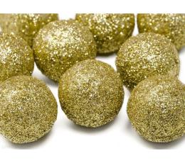 Bumbiņu rotājumi, zelta (9 gab. / 3 cm)