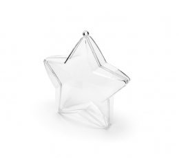 """Caurspīdīgas kastītes """"Zvaigznītes"""" (3 gab/ 10 cm) 1"""