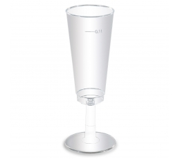 Caurspīdīgas, plastmasas glāzes ( 6 gab/100 ml)