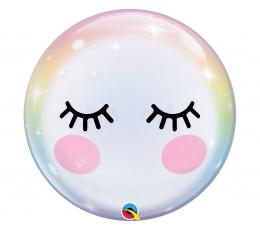 """Caurspīdīgs (bubble) balons """"Actiņas"""" (55 cm)"""