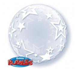 """Caurspīdīgs (bubble) balons """"Zvaigznes"""" (60 cm)"""