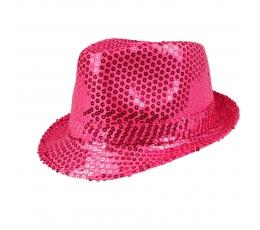 Cepure, spīdīga -rozā