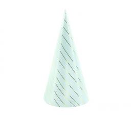Cepurītes, gaiši zilas ar zelta svītrām (6 gab)