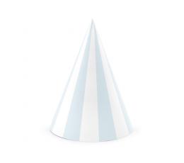 Cepurītes, gaiši zilas-baltas svītrainas ( 6 gab)