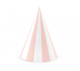 Cepurītes, rozā-baltas svītrainas ( 6 gab)