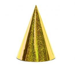 Cepurītes,zelta-spīdīga (6 gab)
