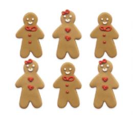 """Cukura masas dekorācija """"Piparkūku vīriņš"""" (6 gab.)"""
