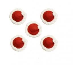 """Cukura masas dekorācija """"Ziemassvētku vecīša cepure"""" (5 gab.)"""