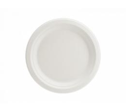 Cukurniedru šķīvīši, balt (6 gab. / 17 cm)