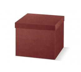 Dāvanu kaste ar vāku, bordo krāsā (29X29X24 cm)