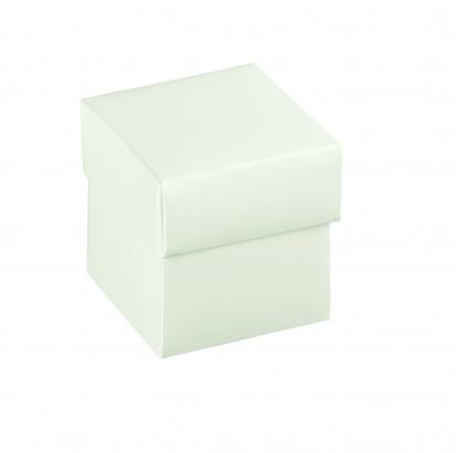 Dāvanu kastīte ar vāku, balta (5 x 5 x 5 cm)