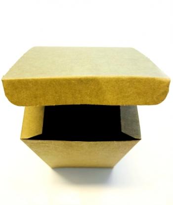 """Dāvanu kastīte """"Kraft"""", saliekama (10x10x16 cm)"""