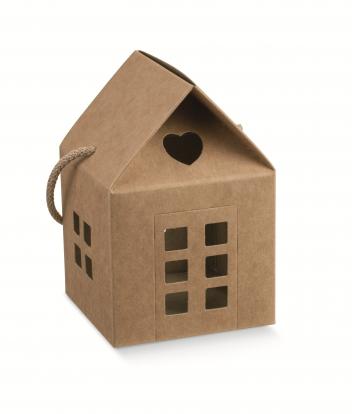 """Dāvanu kastīte """"Namiņš"""", kraft (8X8X7,5 cm)"""