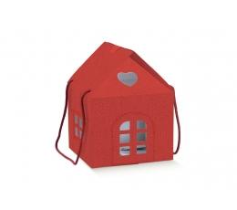 """Dāvanu kastīte """"Sarkanais namiņš"""" (24x24x15 cm)"""