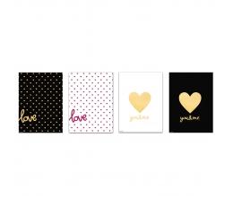 """Dāvanu maisiņi """"Zelta mīla"""" (4 gab)"""