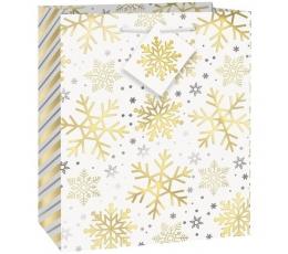 """Dāvanu maisiņš """"Spīdīgas sniegpārsliņas"""""""