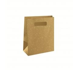 Dāvanu maisiņš, zelta (23X10X30 cm)