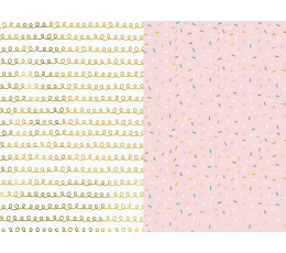 Dāvanu papīrs, rozā ar spīdumiem (2 gab/70x200 cm)