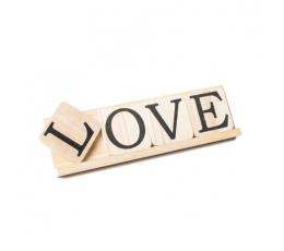 "Dekorācija - burti ""LOVE"", koka  (10x35 cm)"