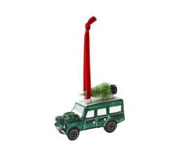 """Dekorācija-eglītes rotājums """"Zaļais džips"""""""