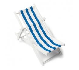 """Dekorācija """"Pludmales krēsls"""", zils - svītrains (9 x 15 cm)"""