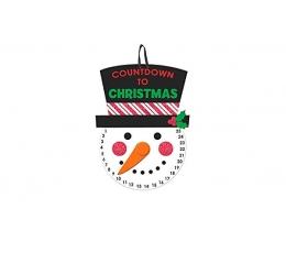 """Dekorācija """"Ziemassvēktu pulkstenis""""  (40x25 cm)"""