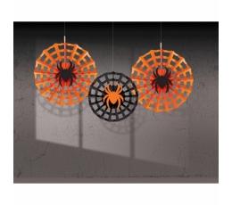 """Dekorācijas-vēdekļi """"Zirnekļa tīkli"""" (3 gab./30-40 cm)"""