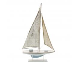 Dekoratīva buru laiva, koka (56 x 35 cm)