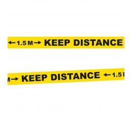 "Dekoratīva lente ""Keep distance"" (15 m)"