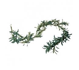 Dekoratīva olīvu koka lapu vītne (1,80 m)