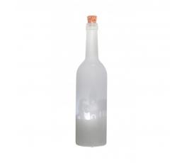 """Dekoratīvā pudele ar gaismiņu """"Ziemassvētku vecītis"""" (30 cm)"""
