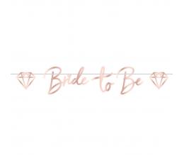 """Dekoratīva virtene """"Bride to be"""", vara krāsā (1,5 m)"""