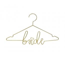"""Dekoratīvais drēbju pakaramais """"Bride"""", zelta (45x27 cm)"""