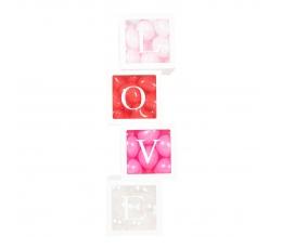 """Dekoratīvas kastītes """"LOVE"""" (4 gab.)"""