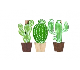 """Dekoratīvi knaģīši """"Kaktusi"""" (6 gab)"""