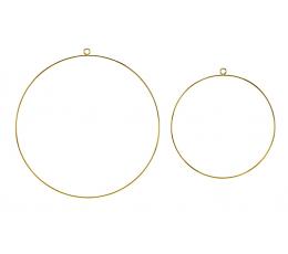 Dekoratīvi metāla riņķi, zelta (2 gab.)