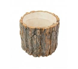Dekoratīvs koka celms (20x20x19 cm)